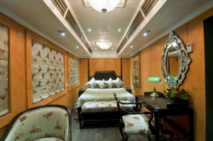 Cabin of Royal Rajasthan on Wheels