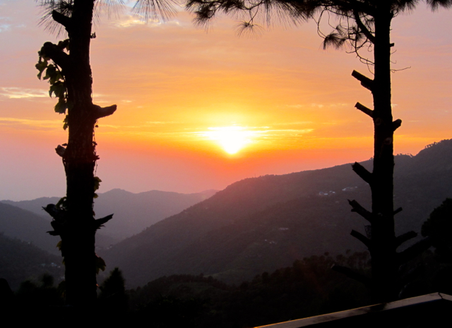 Sunset Point in Kasauli